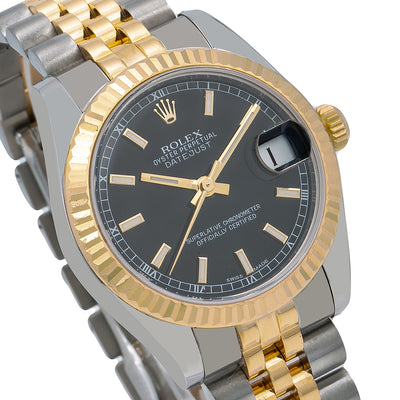 Rolex Datejust 178273 31MM Black Dial With Two Tone Jubilee Bracelet