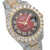 Rolex Datejust II 116333 41MM Red Diamond Dial With 25.75 CT Diamonds