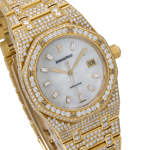 Audemars Piguet Royal Oak 15000ST 33MM Silver Diamond Dial With 13.75 CT Diamonds