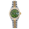 Rolex Lady-Datejust 69173 26MM Green Diamond Dial With Two Tone Jubilee Bracelet