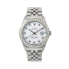 Rolex Datejust 16000 36MM White Diamond Dial With 1.40 CT Diamonds