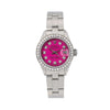 Rolex Oyster Perpetual Diamond Watch, Datejust 6916 26mm, Pink Diamond Dial With 0.90 CT Diamonds