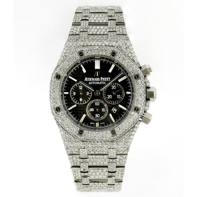 Audemars Piguet Royal Oak Chronograph 26331ST 41mm Black Dial With 23.75 CT Diamonds