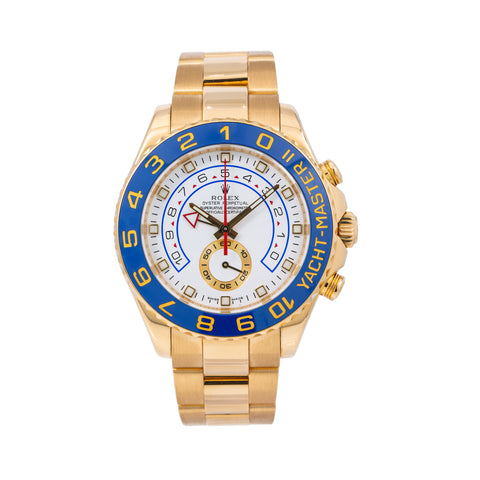 Rolex Yacht-Master II 116688 44MM White Dial With Yellow Gold Oyster Bracelet