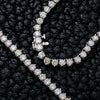 14K White Gold Tennis Chain With 36.50 CT Diamonds