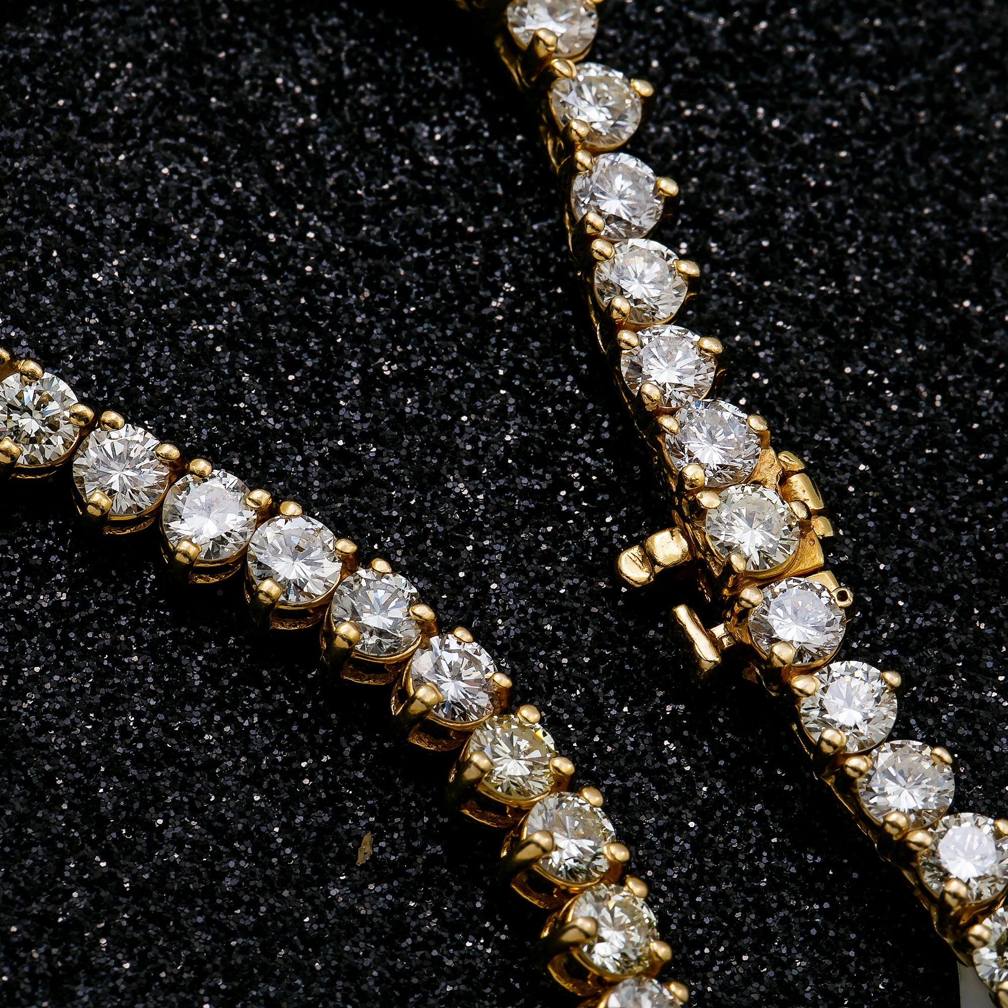 14K Yellow Gold Men's Tennis Chain With 25.90 CT Diamonds