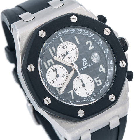Audemars Piguet Royal Oak Offshore Chronograph 25940SK 42MM Black Dial With Rubber Bracelet