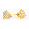 10K Yellow Gold Ladies Earrings with 0.50 CT Diamond