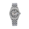Rolex Datejust 31MM Silver Diamond Dial With Stainless Steel Diamond Bracelet Total Of 12ct Diamonds
