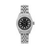 Rolex 26MM Black Diamond Dial With Stainless Steel Bracelet