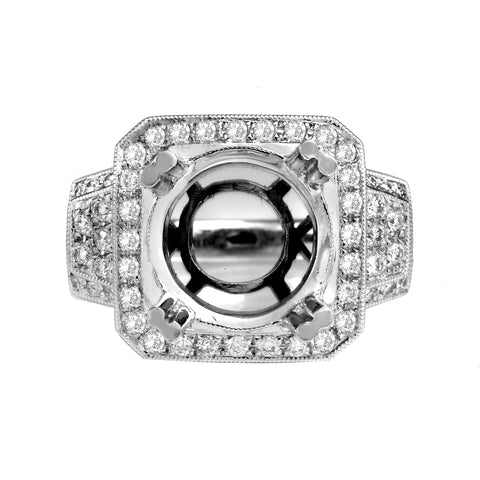 18K White Gold BJ6336R3 Women's Ring With 1.36 CT Diamonds