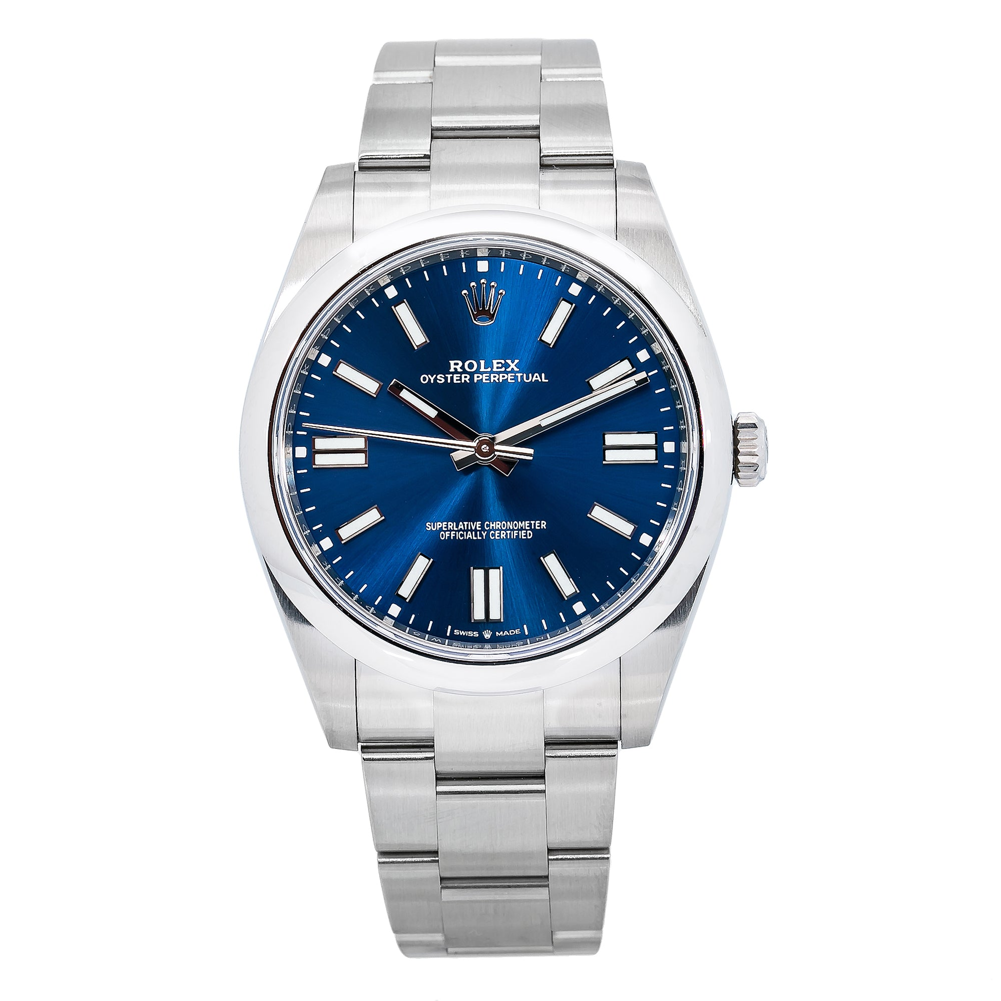 Rolex Oyster Perpetual 124300 41MM Blue Dial With Stainless Steel Oyster Bracelet