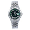 Rolex Datejust 1601 36MM Green Diamond Dial With 9.25 CT Diamonds