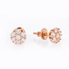 14K Rose Gold Unisex Earrings with 0.48 CT Diamond
