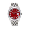 Rolex Datejust 126300 41MM Red Diamond Dial With Stainless Steel Jubilee Bracelet