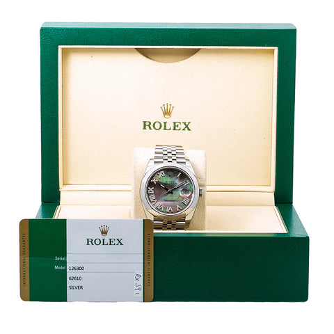 Rolex Datejust Diamond Watch, 126300 41mm, Silver Diamond Dial With Stainless Jubilee Bracelet