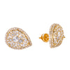 14K Yellow Gold Ladies Earrings with 1.40 CT Diamond