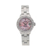Rolex Oyster Perpetual Date 6519 26MM Pink Diamond Dial With Stainless Steel Oyster Bracelet