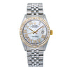 Rolex Datejust 16014 36MM White Diamond Dial With 1.30 CT Diamonds