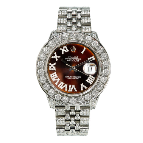 Rolex Datejust 116234 36MM Bronze Dial With 15.25CT Diamonds