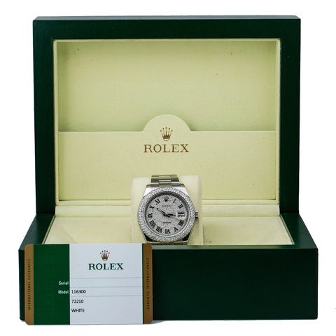 Rolex Datejust II 116300 41MM White Diamond Dial With Stainless Steel Oyster Bracelet