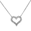 14K White Gold Ladies Heart Pendant with 0.58 CT Diamond