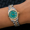 Rolex Lady-Datejust 6917 26MM Turquoise Diamond Dial With Two Tone Jubilee Bracelet