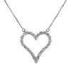14K White Gold Ladies Heart Pendant with 1.45 CT Diamond