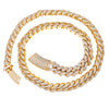 "14K YELLOW GOLD 24""/16MM CUBAN CHAIN WITH 38.95 CT DIAMONDS"