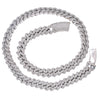 "14K WHITE GOLD 24""/13MM CUBAN CHAIN WITH 42.25 CT DIAMONDS"