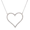 14K White Gold Ladies  Heart Pendant with 1.68 CT Diamond