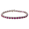 14K White Gold Ladies Bracelet with 1.55 CT Diamond and 6.28 CT Rubies
