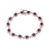 14K White Gold Ladies Bracelet with 3.67 CT Diamond and 6.63 CT Rubies