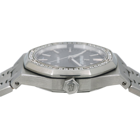Audemars Piguet Royal Oak Lady 15451ST 37MM Black Dial With Stainless Steel Bracelet