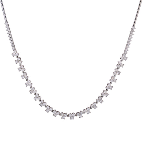 18K White Gold Women's Necklace, 18