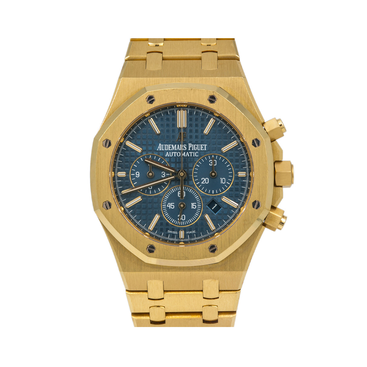 Audemars Piguet Royal Oak Chronograph 26320BA 41MM Blue Dial With Yellow Gold Bracelet