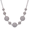 "14K White Gold Women's Necklace, 17"" Chain and 24.85 CT Diamonds"
