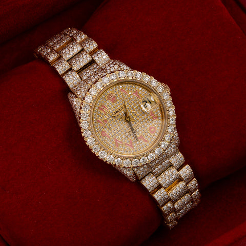 Rolex Datejust Diamond Watch, 68278 31mm, Champagne Diamond Dial With 12.25 CT Diamonds