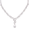 "18K White Gold Women's Necklace, 18"" Chain With Diamonds"
