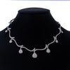"18K White Gold Women's Necklace, 18"" Chain"