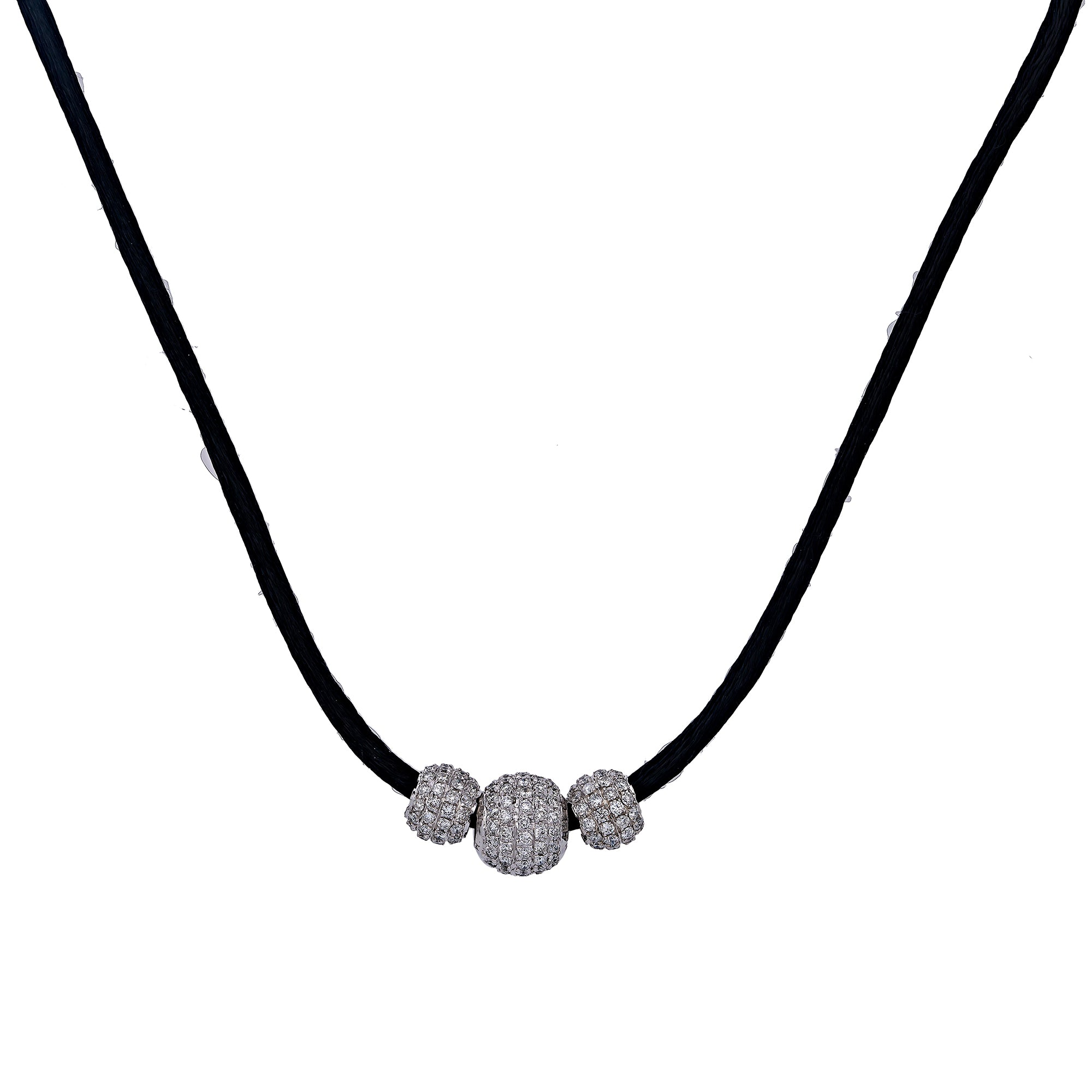 10K White Gold Women's Necklace, 17