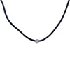 "10K White Gold Women's Necklace, 17"" Chain"