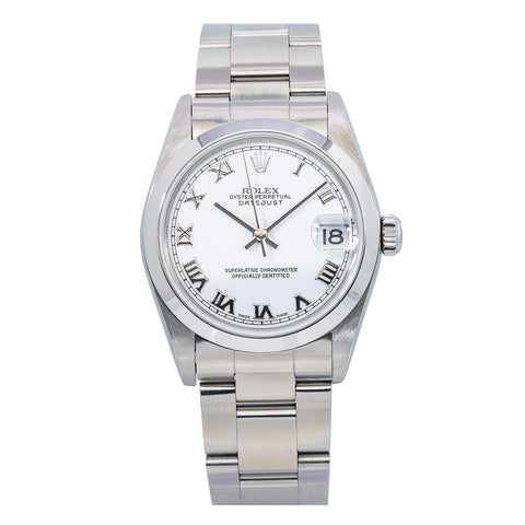 Rolex DateJust 31MM White Dial With Stainless Steel Oyster Bracelet