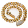 "10K Yellow Gold 22"" Men's Necklace With 35.75 CT Diamonds"