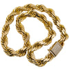 10K Yellow Gold Rope Chain | 1.75 Carats | 453.20 Grams | 24 Inches