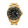Rolex Submariner Date 116618LN 40MM Black Dial With 18K Yellow Gold Bracelet