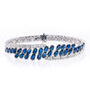 18K WHITE GOLD LADIES BRACELET WITH 2.68 CT DIAMONDS AND 8.94 CT SAPPHIRES