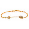 18K YELLOW GOLD LADIES BRACELET WITH 0.16 CT DIAMONDS