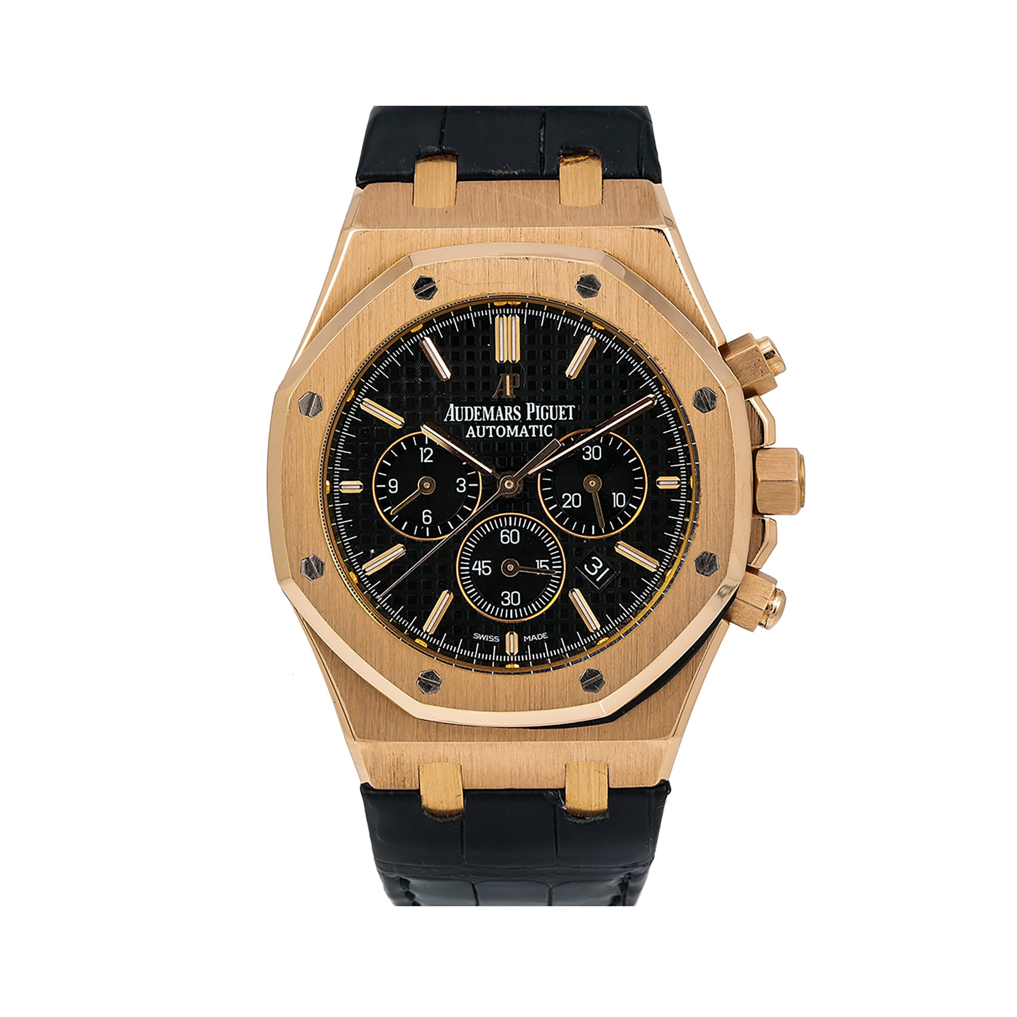 Audemars Piguet Royal Oak Chronograph 26320OR 41MM Black Dial With Leather Bracelet