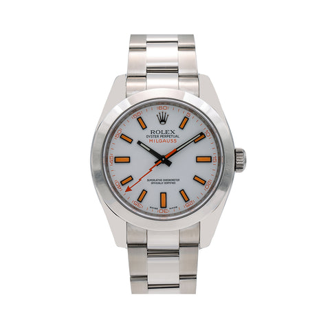 Rolex Milgauss 116400 40MM White Dial With Stainless Steel Oyster Bracelet